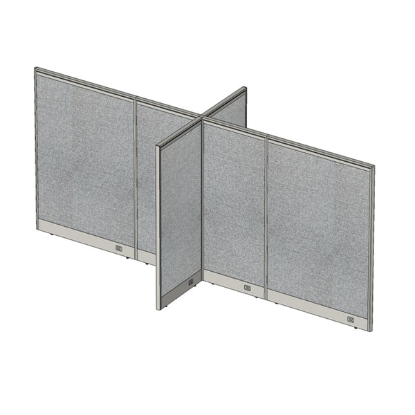 GOF Office X-Shaped Partition 60D x 156W x 72H - Kainosbuy.com