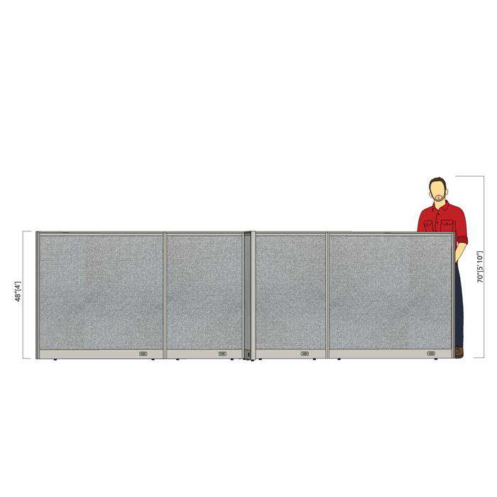 GOF Office X-Shaped Partition 72D x 156W x 48H - Kainosbuy.com