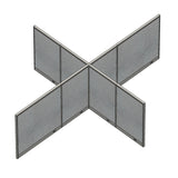 GOF Office X-Shaped Partition 120D x 156Wx 48H - Kainosbuy.com