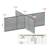 GOF Office X-Shaped Partition 132D x 156W x 48H - Kainosbuy.com