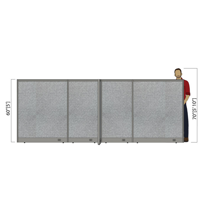GOF Office X-Shaped Partition 132D x 156W x 60H - Kainosbuy.com