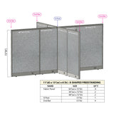 GOF Office X-Shaped Partition 132D x 156W x 72H - Kainosbuy.com