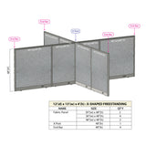 GOF Office X-Shaped Partition 144D x 156W x 48H - Kainosbuy.com