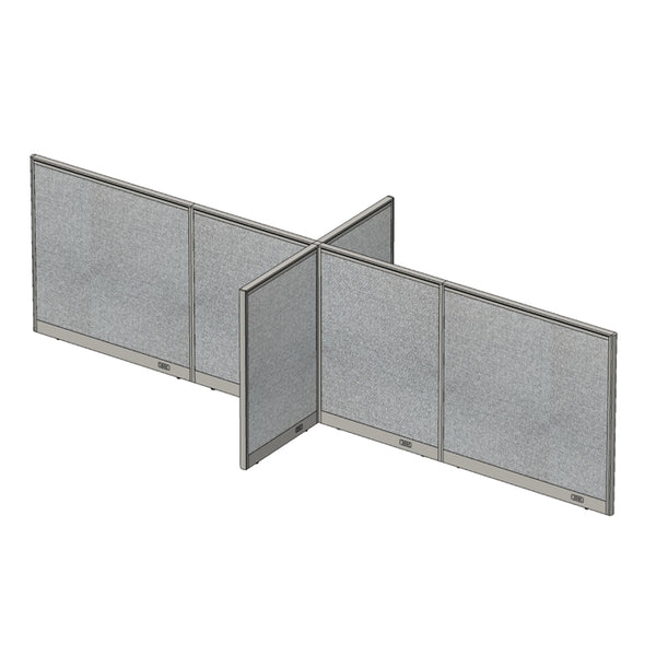 GOF Office X-Shaped Partition 60D x 168W x 48H - Kainosbuy.com