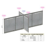 GOF Office X-Shaped Partition 72D x 168W x 60H - Kainosbuy.com
