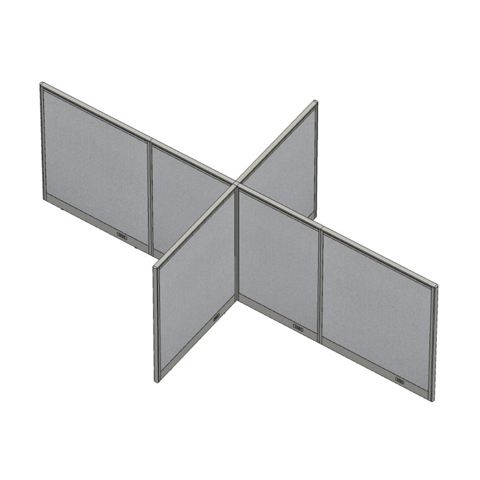 GOF Office X-Shaped Partition 96D x 168W x 60H - Kainosbuy.com