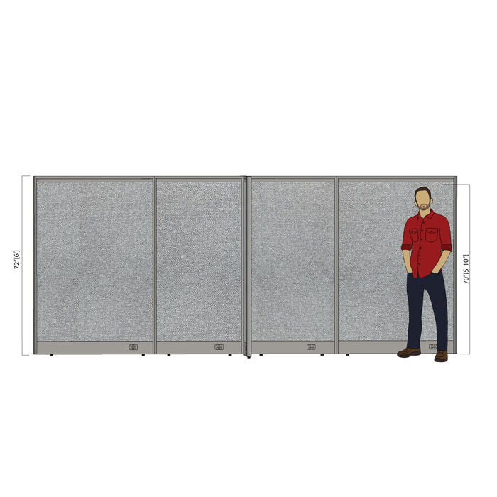 GOF Office X-Shaped Partition 96D x 168W x 72H - Kainosbuy.com