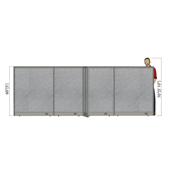 GOF Office X-Shaped Partition 120D x 168Wx 60H - Kainosbuy.com