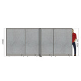GOF Office X-Shaped Partition 132D x 168W x 72H - Kainosbuy.com