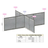 GOF Office X-Shaped Partition 144D x 168W x 48H - Kainosbuy.com