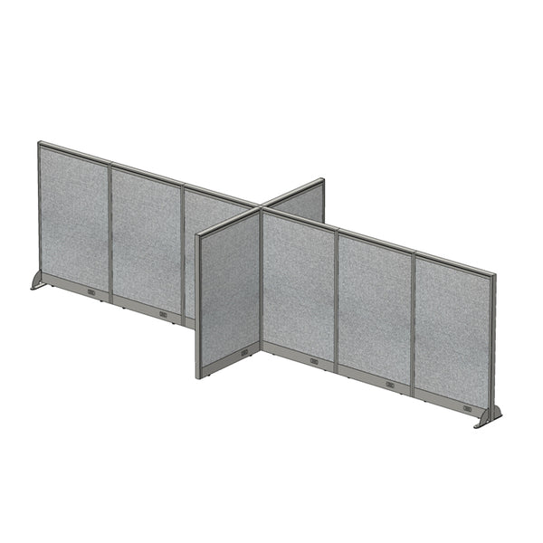 GOF Office X-Shaped Partition 60D x 180W x 48H - Kainosbuy.com