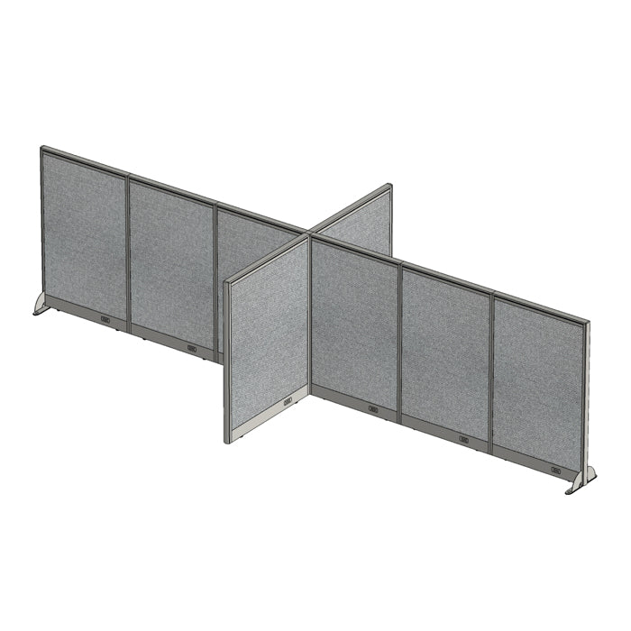GOF Office X-Shaped Partition 72D x 180W x 48H - Kainosbuy.com
