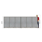 GOF Office X-Shaped Partition 72D x 180W x 60H - Kainosbuy.com