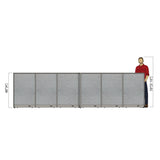 GOF Office X-Shaped Partition 96D x 180W x 48H - Kainosbuy.com