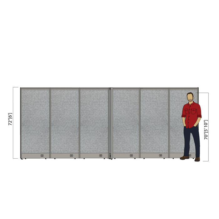 GOF Office X-Shaped Partition 96D x 180W x 72H - Kainosbuy.com
