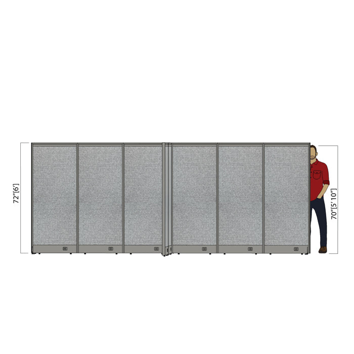 GOF Office X-Shaped Partition 132D x 180W x 72H - Kainosbuy.com