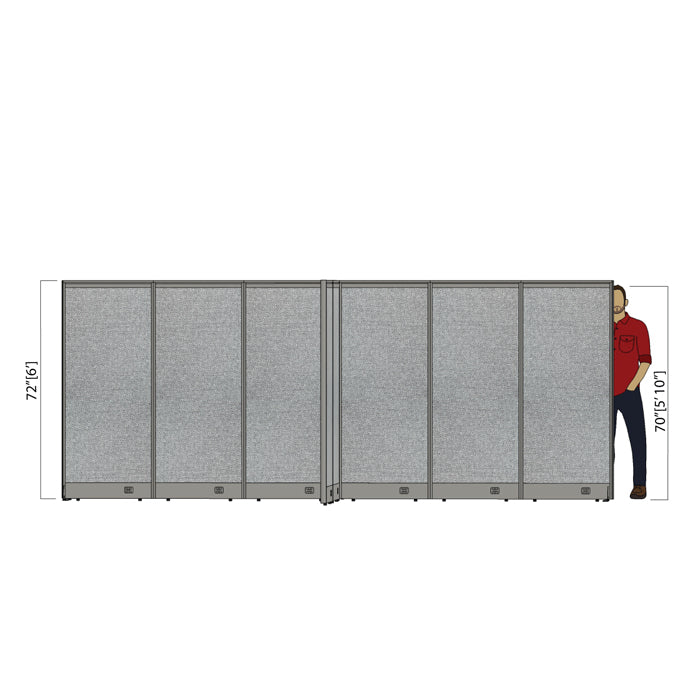 GOF Office X-Shaped Partition 156D x 180W x 72H - Kainosbuy.com