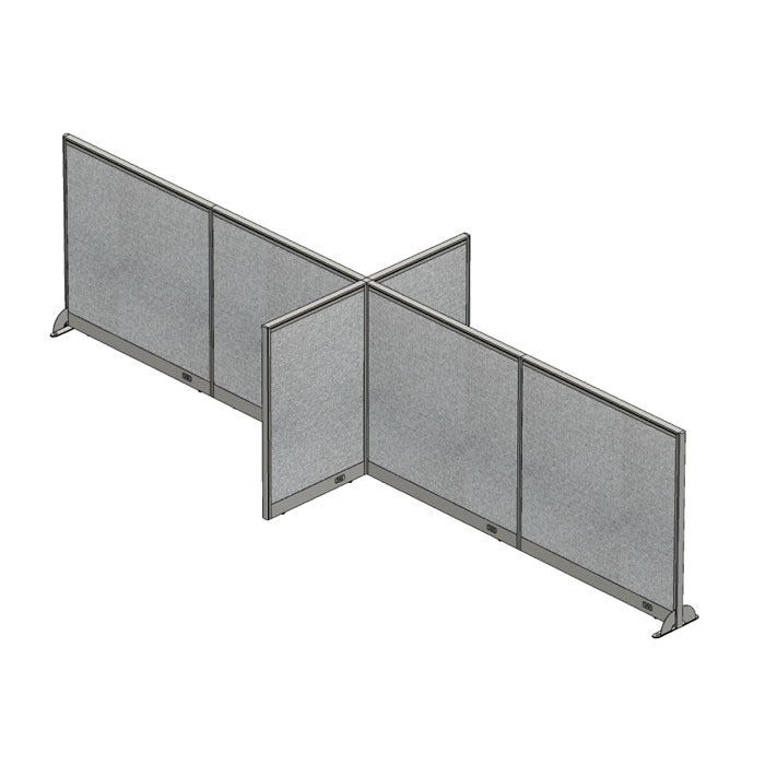GOF Office X-Shaped Partition 60D x 192W x 48H - Kainosbuy.com
