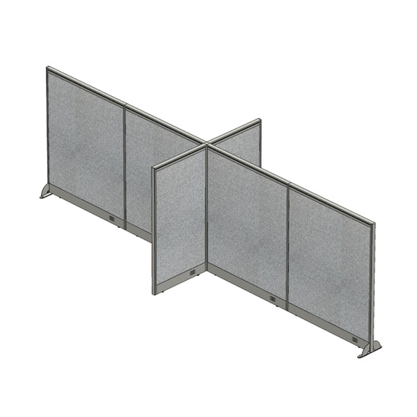 GOF Office X-Shaped Partition 60D x 192W x 60H - Kainosbuy.com