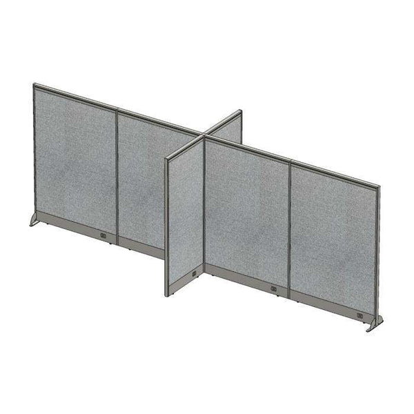GOF Office X-Shaped Partition 60D x 192W x 72H - Kainosbuy.com