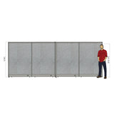 GOF Office X-Shaped Partition 96D x 192W x 72H - Kainosbuy.com
