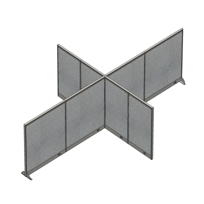 GOF Office X-Shaped Partition 120D x 192Wx 60H - Kainosbuy.com