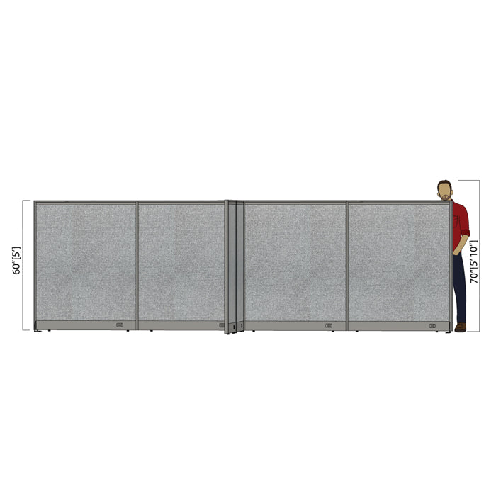 GOF Office X-Shaped Partition 132D x 192W x 60H - Kainosbuy.com