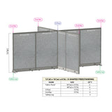 GOF Office X-Shaped Partition 156D x 192W x 72H - Kainosbuy.com