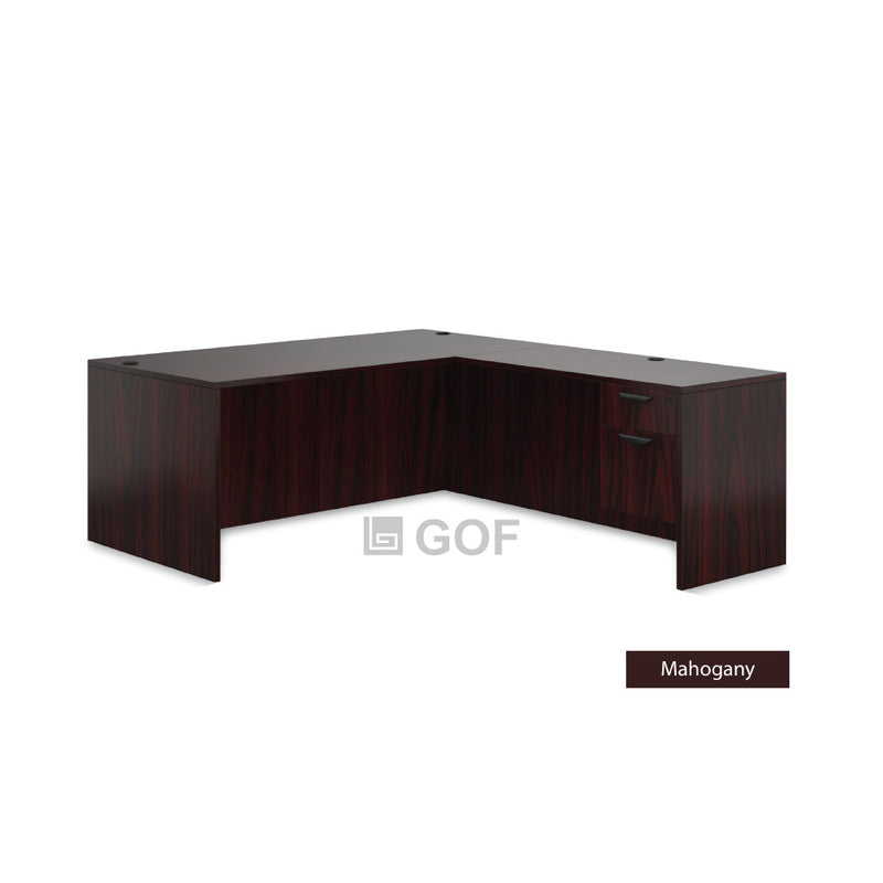 GOF 4 Person Workstation Cubicle (6'D  x 28'W x 4'H) / Office Partition, Room Divider - Kainosbuy.com