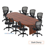 10ft. Racetrack Conference Table with<br>8 Chairs (G11320B) - Kainosbuy.com