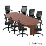10ft. Racetrack Conference Table with<br>8 Chairs (G11920B) - Kainosbuy.com