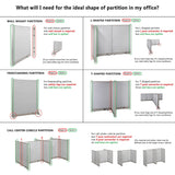 GOF Office T-Shaped Partition 72D x 288W x 48H - Kainosbuy.com