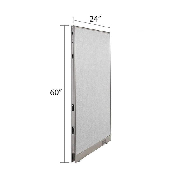 GOF Single Full Fabric Office Partition<br>24w x 60h - Kainosbuy.com