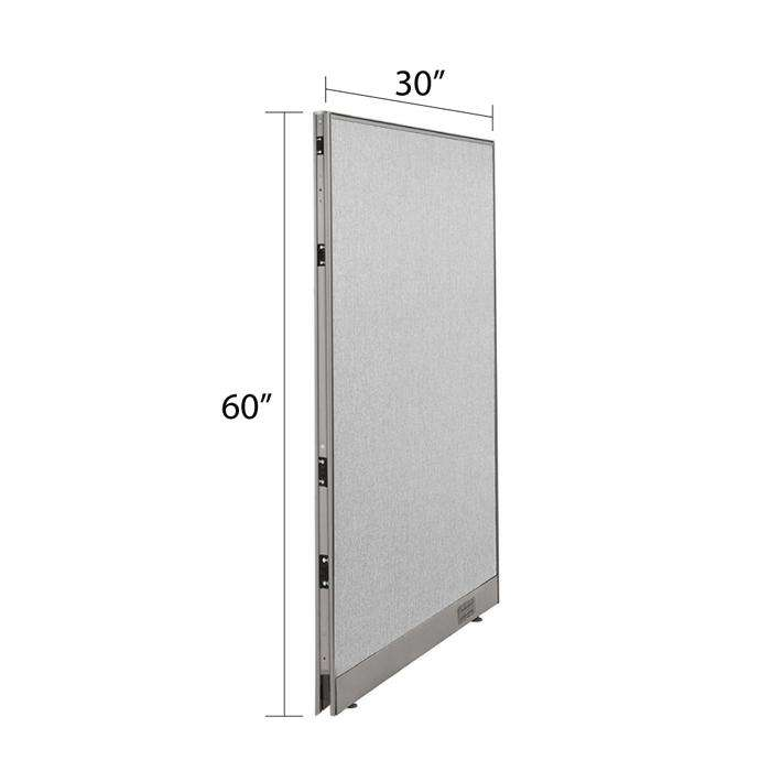 GOF Single Full Fabric Office Partition <br>30w x 60h - Kainosbuy.com