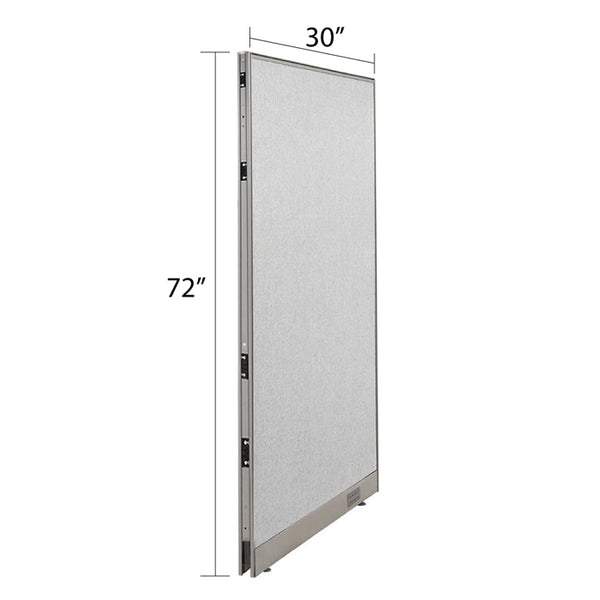 GOF Single Full Fabric Office Partition<br>30w x 72h - Kainosbuy.com