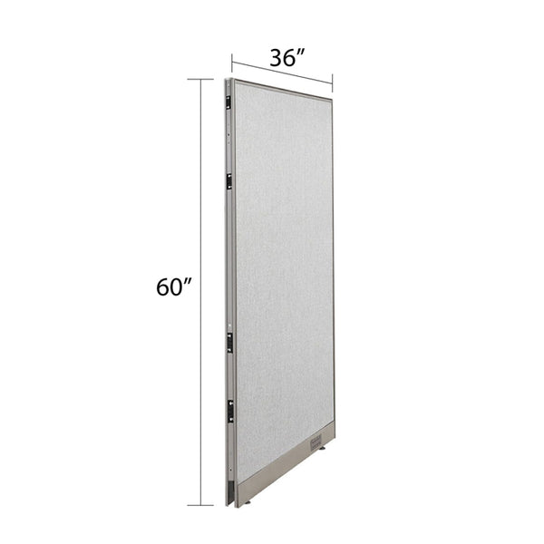 GOF Single Full Fabric Office Partition<br>36w x 60h - Kainosbuy.com