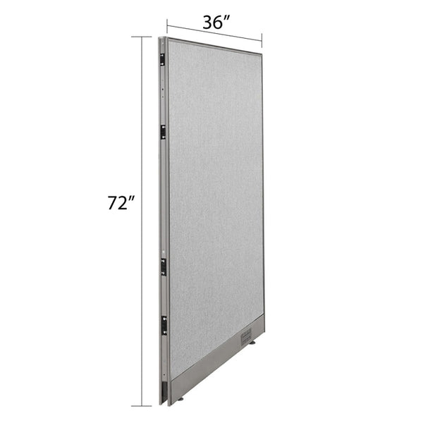 GOF Single Full Fabric Office Partition<br>36w x 72h - Kainosbuy.com