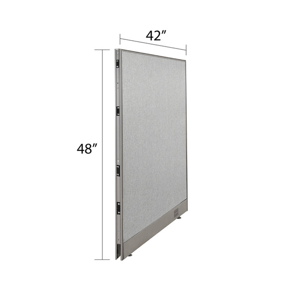 GOF Single Full Fabric Office Partition<br>48w x 48h - Kainosbuy.com