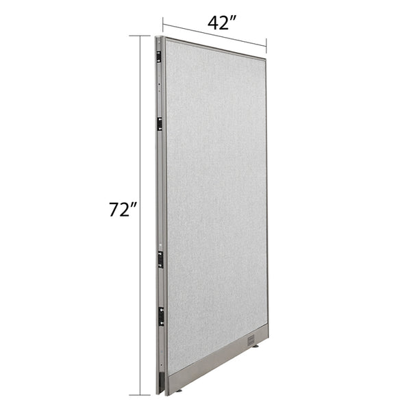 GOF Single Full Fabric Office Partition<br>42w x 72h - Kainosbuy.com