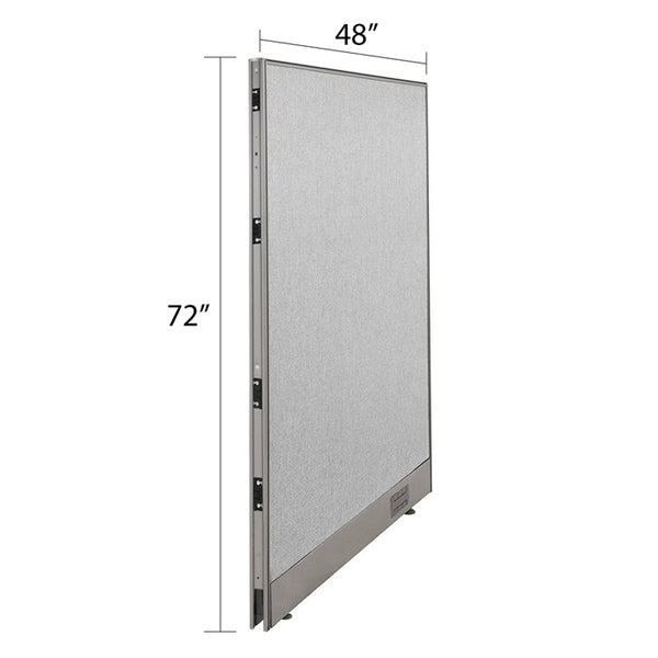 GOF Single Full Fabric Office Partition<br>48w x 72h - Kainosbuy.com