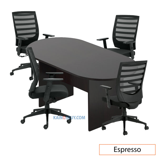 6ft. Racetrack Conference Table with<br>4 Chairs (G11920B) - Kainosbuy.com