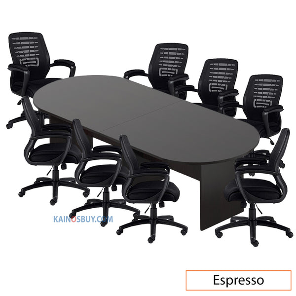 10ft. Racetrack Conference Table with <br>8 Chairs (G11750B) - Kainosbuy.com