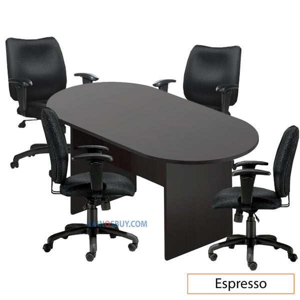 6ft. Racetrack Conference Table with<br> 4 Chairs (G11612B) - Kainosbuy.com