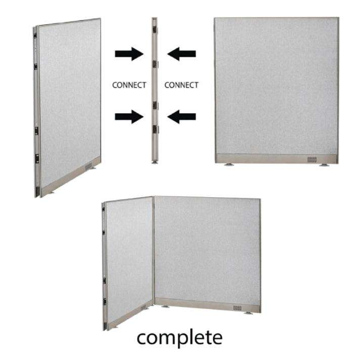 GOF Office L-Shaped Partition 108d x 144w x 48H - Kainosbuy.com