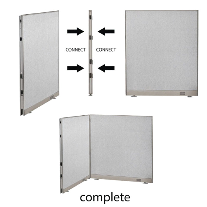 GOF Office L-Shaped Partition 36d x 126w x 48H - Kainosbuy.com