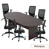 8ft. Racetrack Conference Table with<br>6 Chairs (G11920B) - Kainosbuy.com