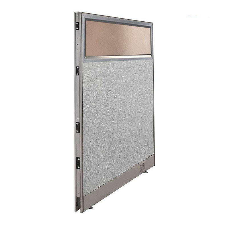 GOF Partial Glass Panel Office Partition<br>48w x 60h - Kainosbuy.com