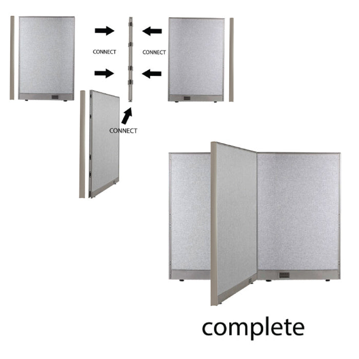 GOF Office T-Shaped Partition 72D x 132W x 48H - Kainosbuy.com