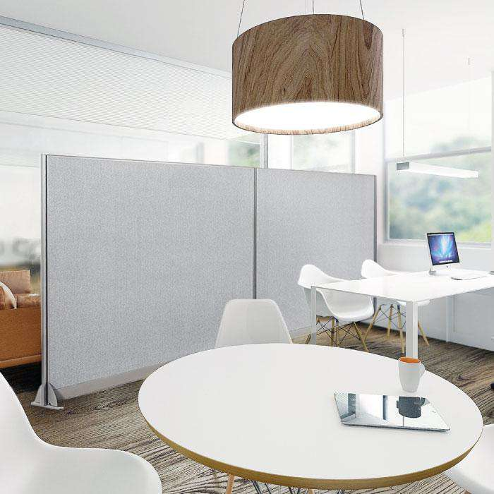 GOF Wallmounted Office Partition<BR>132W x 72H - Kainosbuy.com