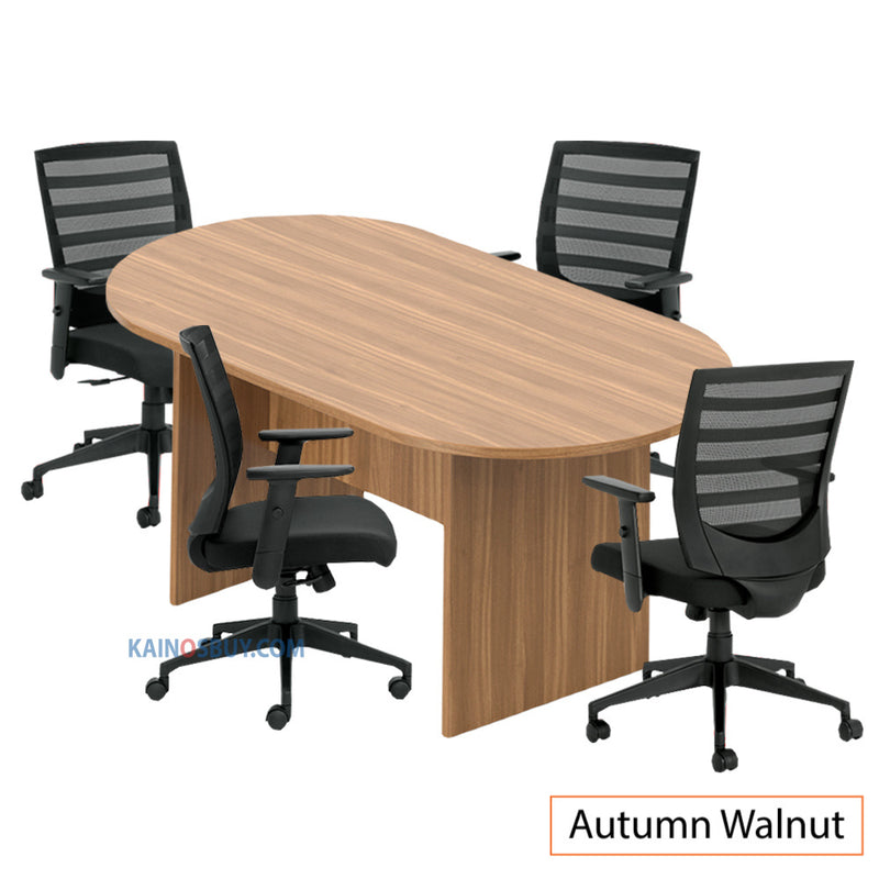 6ft. Racetrack Conference Table with<br>4 Chairs (G11921B) - Kainosbuy.com